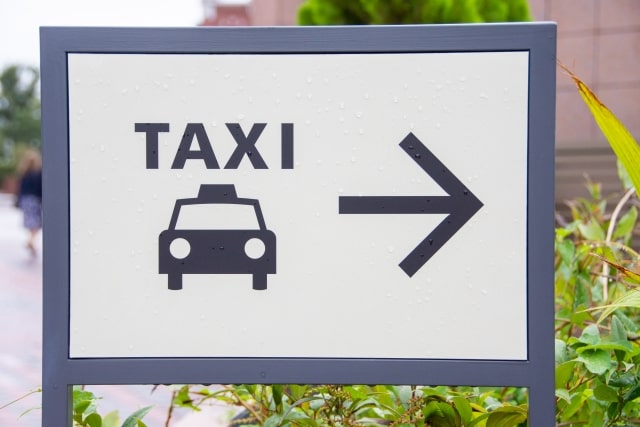 タクシー標識の画像